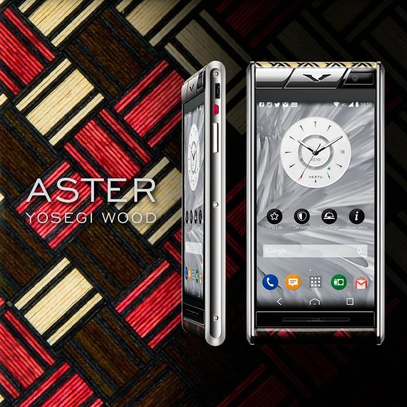 Vertu - Aster Yosegi Wood limited edition luxury phone