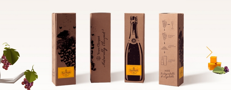 Veuve Clicquot Naturally Clicquot eco-packaging from grapes-