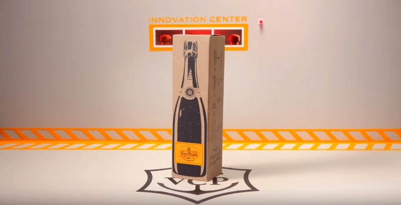 Veuve Clicquot Naturally Clicquot eco-packaging from grapes
