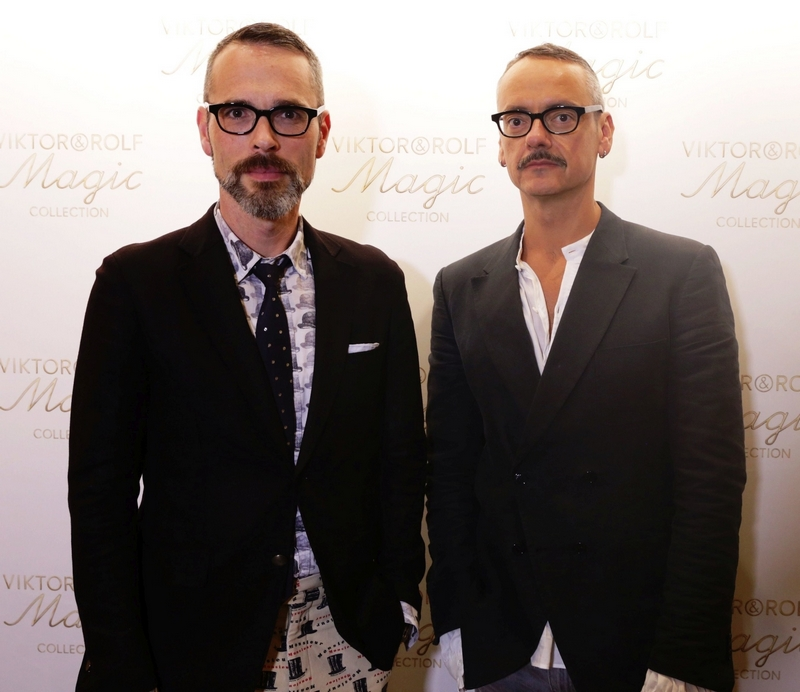 viktor-horsting-and-rolf-snoeren-at-the-launch-of-their-viktorrolf-magic-collection