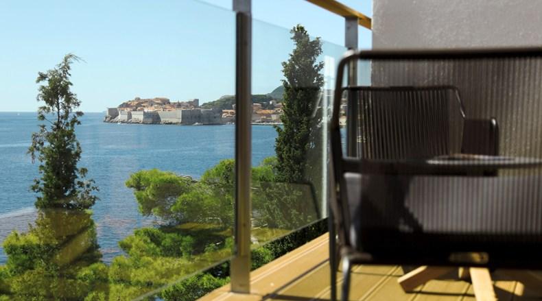 Villa Dubrovnik, Dubrovnik, Croatia-Lunch Restaurant Giardino-HVB Balcony View