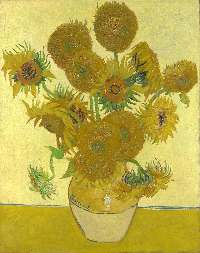 Vincent van Gogh Sunflowers series
