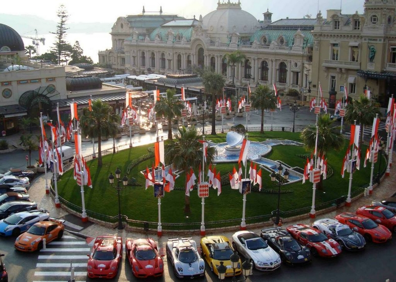 Visiting Casino Square during Top Marques Monaco