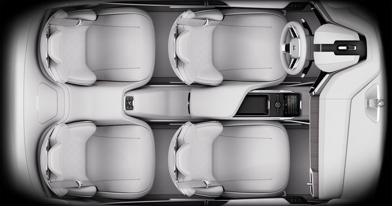 Volvo -Top view of Volvo Concept 26 full interior