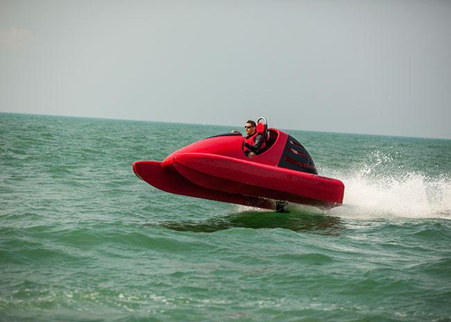 Wavekat 70 on the sea