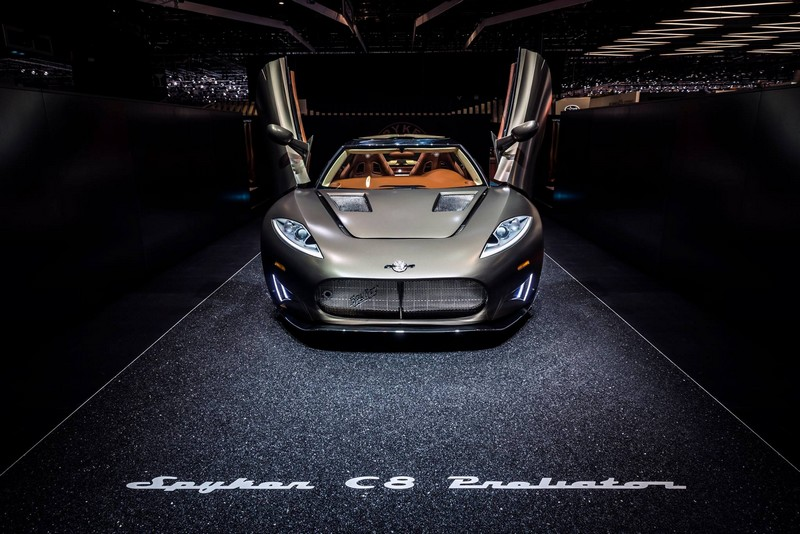 World Debut for The Spyker C8 Preliator-GenevaMotorShow2016-front