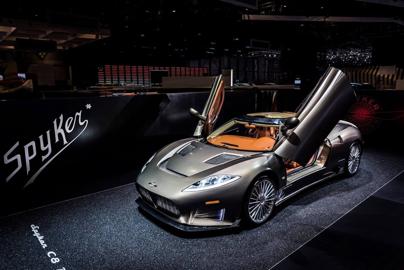 World Debut for The Spyker C8 Preliator-GenevaMotorShow2016-lateral