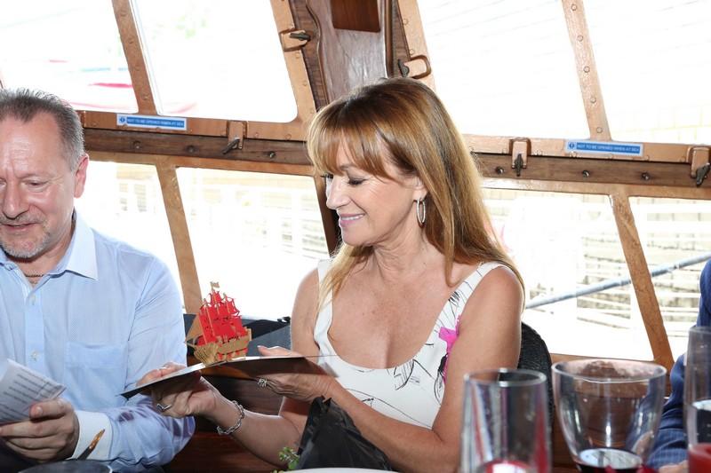 World of Diamonds - Lunch at BlueAlbatross - Jane Seymour