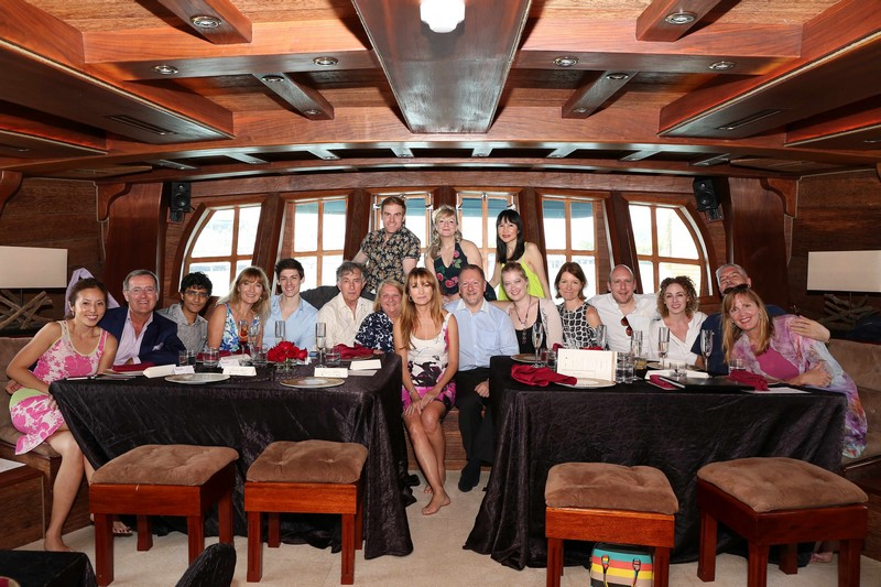 World of Diamonds - Lunch at the BlueAlbatross - jane seymour may 2016-