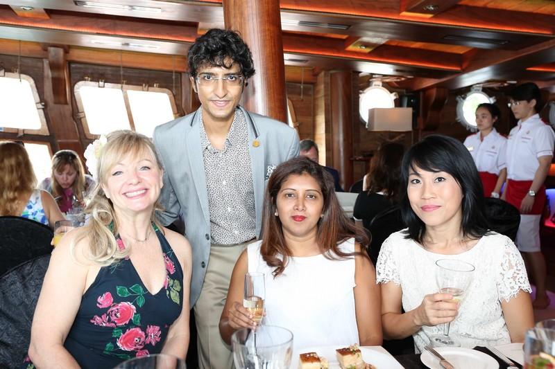 World of Diamonds - Lunch at the BlueAlbatross - jane seymour may 2016
