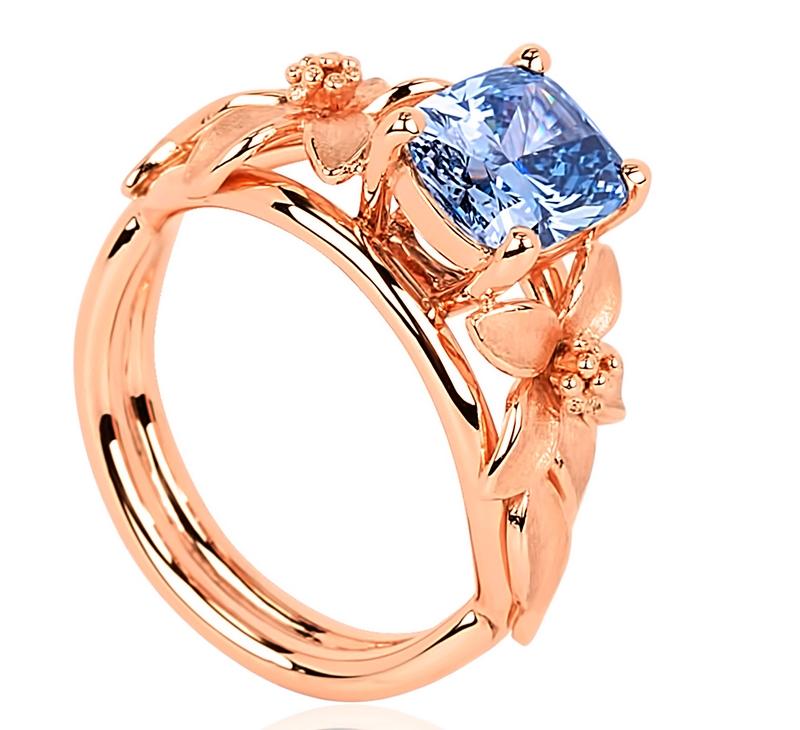 World of Diamonds - The Jane Seymour blue diamond ring - a beyond rare blue diamond - 2luxury2-2016