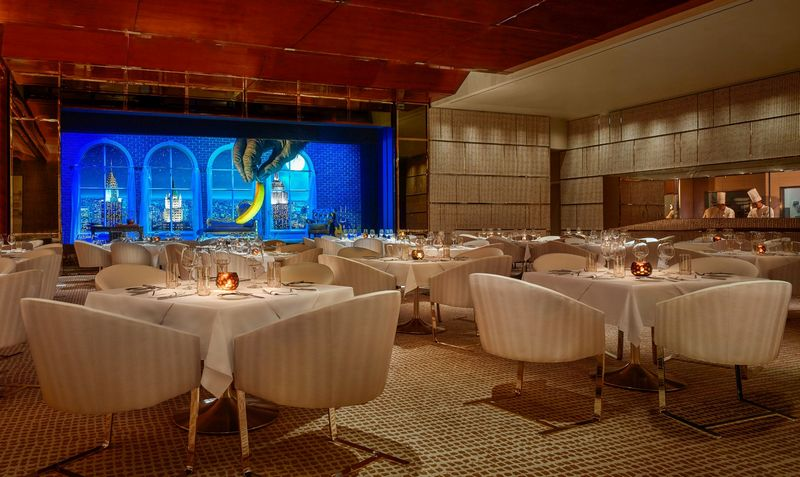 Wynn Palace Macau now Open 2016-the resort's steakhouse, SW, has a suitably masculine, understated atmosphere