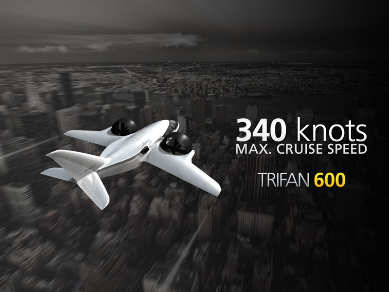 XTI TriFan 600 vertical takeoff airplane prototype 2016 --