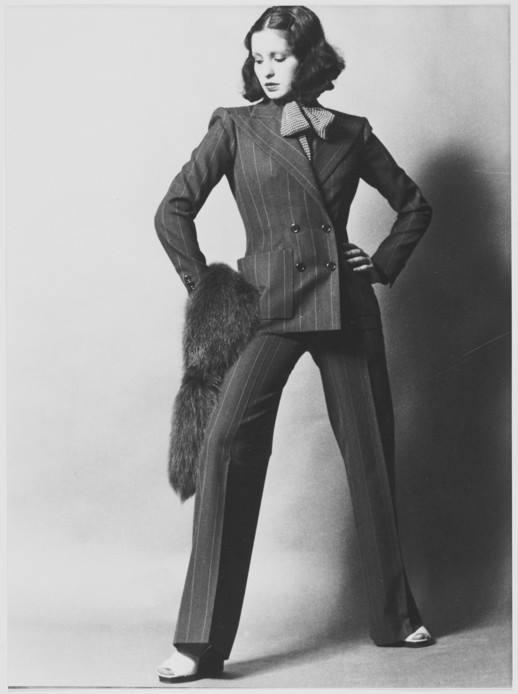 YSL 1971 - tailleur pantalon veste, haute couture 1971