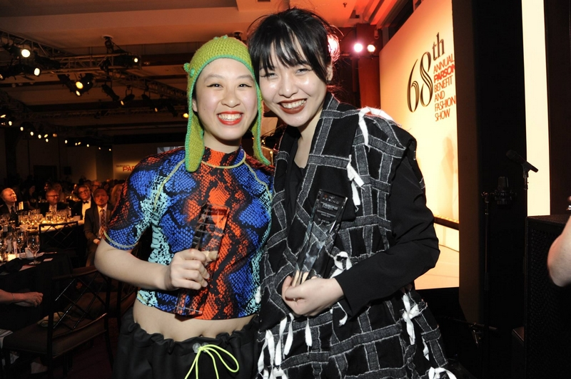 Ya Jun Lin & Tiffany Huang Kering and Parsons School of Design winners of the fifth Empowering Imagination  fashion design competition