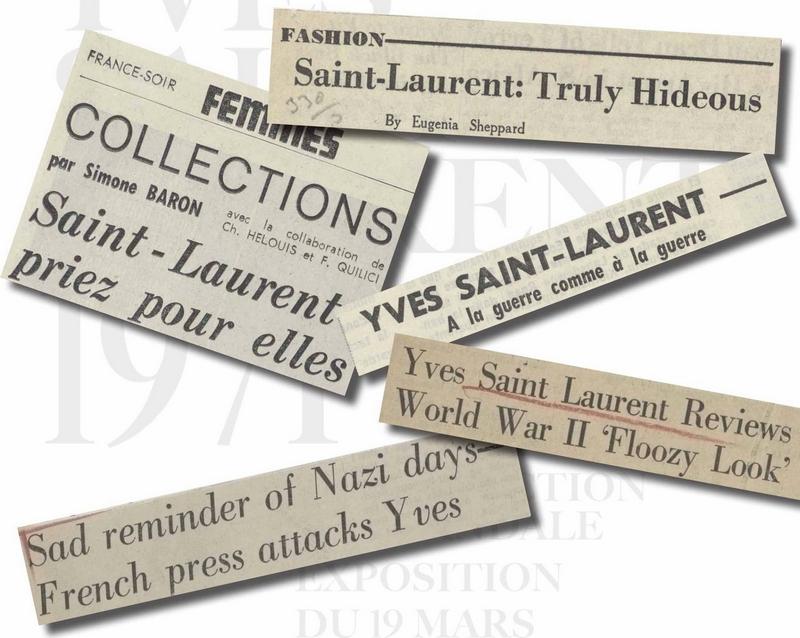 Yves Saint Laurent 1971 la collection du scandale  - exhibition-articles of 1971