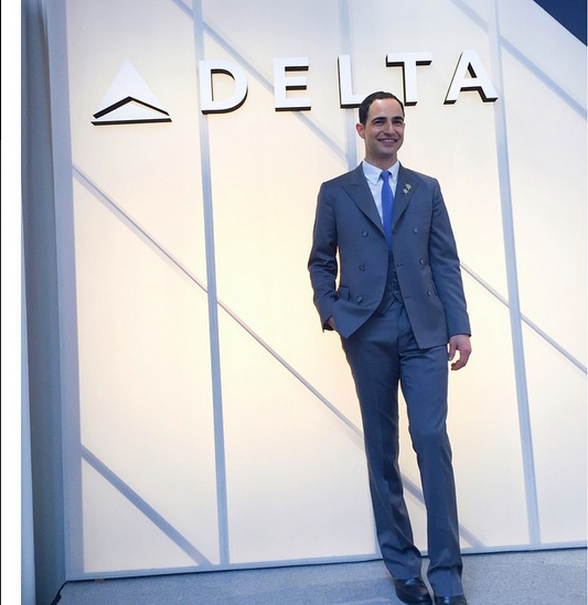 Zac Posen announced partnership with Delta Airlines for the redisign of the uniforms ‪#‎ZacPosenxDelta‬
