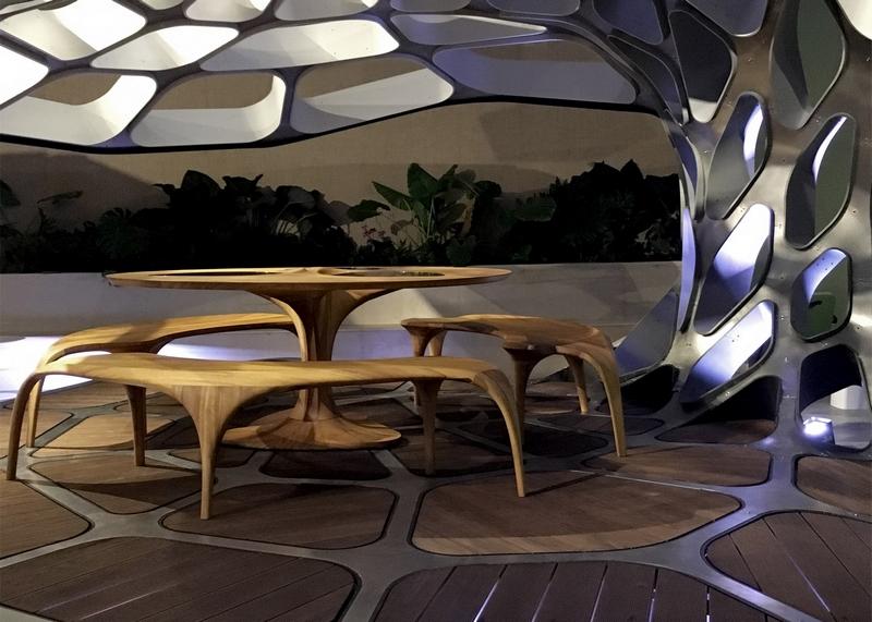 Zaha Hadid Volu Dining Pavilion  Design Miami 2015-volu dining pavilion design miami 2015