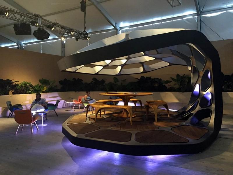 Zaha Hadid Volu Dining Pavilion  Design Miami 2015