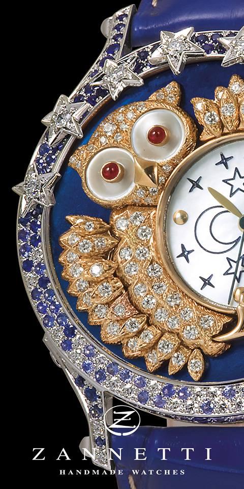 Zannetti Regent Jewellery Owl Limited Edition-baselworld 2016
