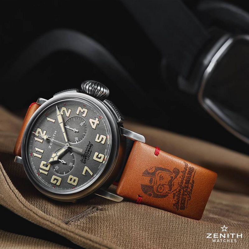 Zenith Pilot Ton-Up DGR Special Edition watch celebrates 2016 The Distinguished Gentleman's Ride