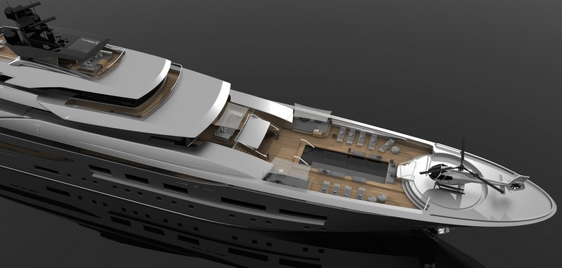 Zuccon 94 m Teti megayacht-aerial photo renderings