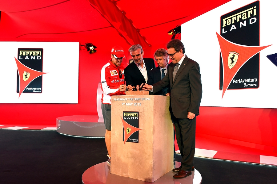 a symbolic first brick from the home of Enzo Ferrari was laid at the site of FerrariLand