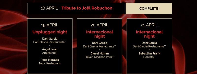 a4manos2016 - joel robuchon tribute