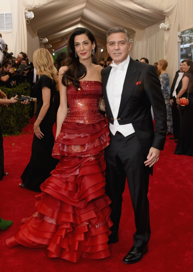 amala clooney 2015 red dress
