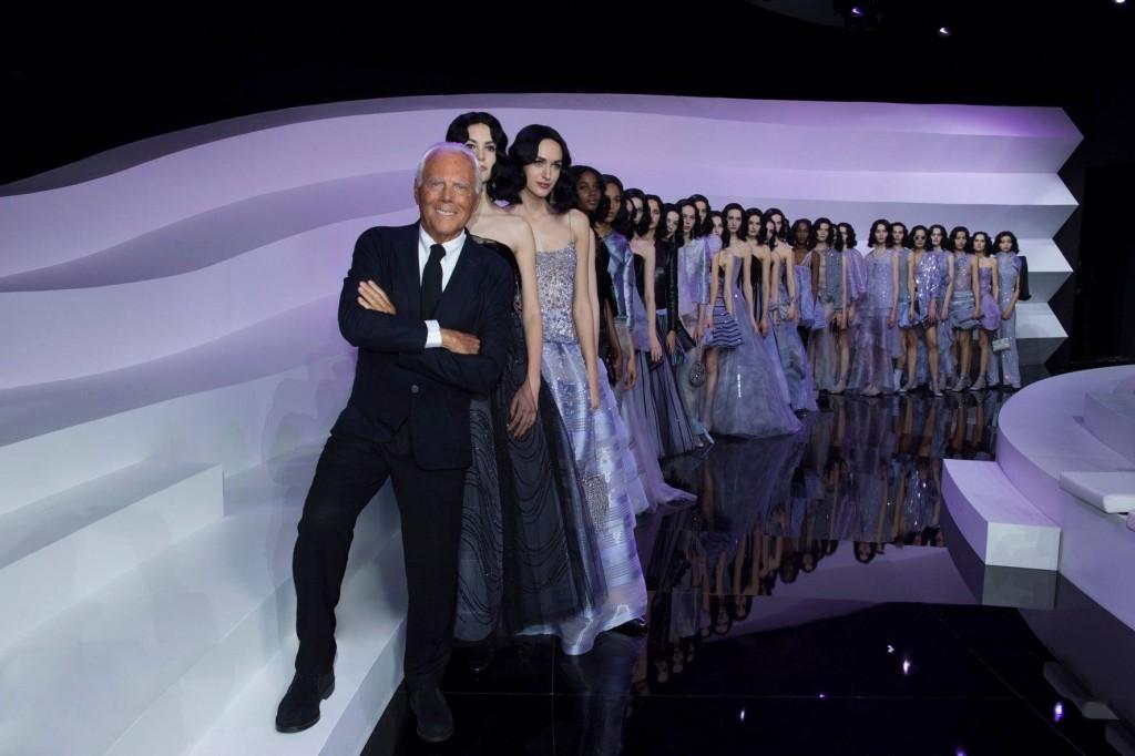 armani - and his models