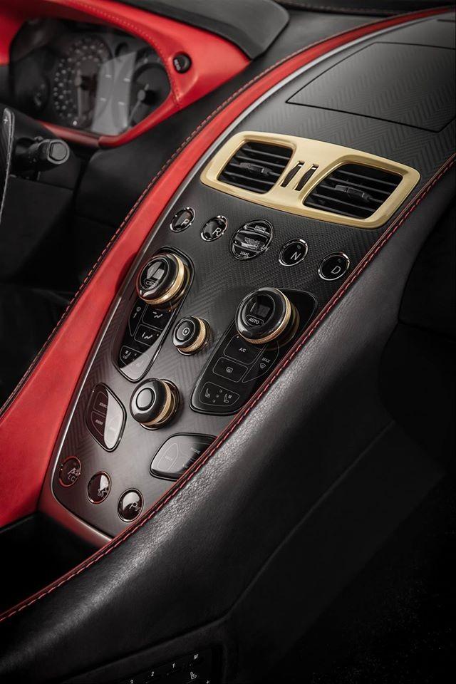 aston martin vanquish zagato limited edition 2016- cockpit details-
