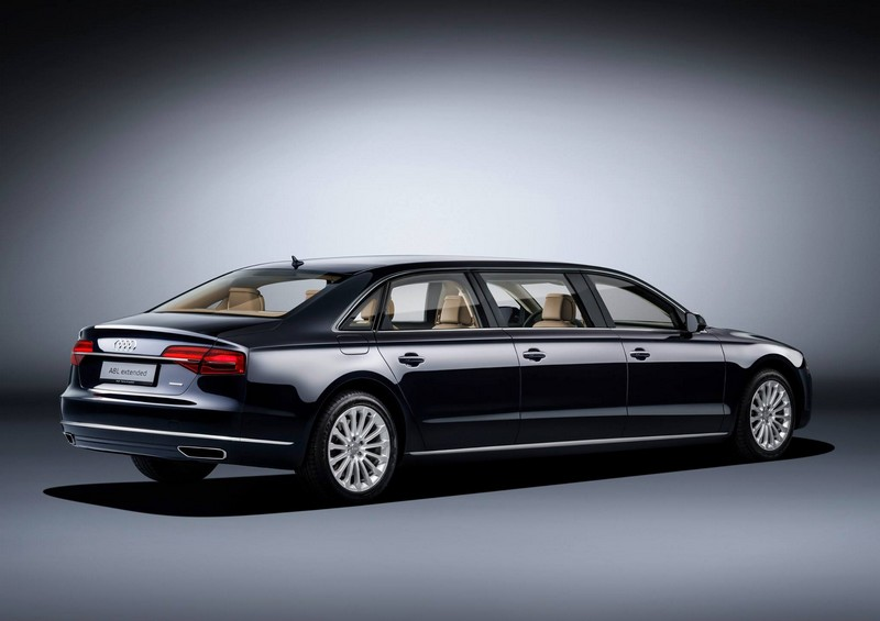 audi- New 6.36-metre luxury saloon offers spacious seating for six-