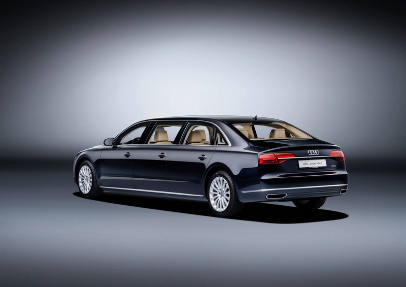 audi- New 6.36-metre luxury saloon offers spacious seating for six--