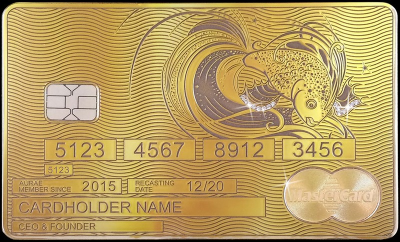 aurae solid gold mastercards