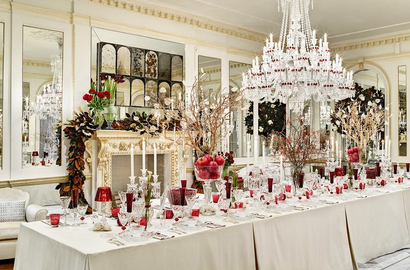 baccarat crystal table