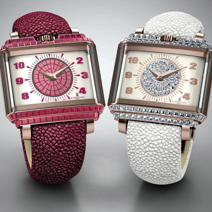 baselworld 2016- DE GRISOGONO New Retro Lady Taille Baguette watch