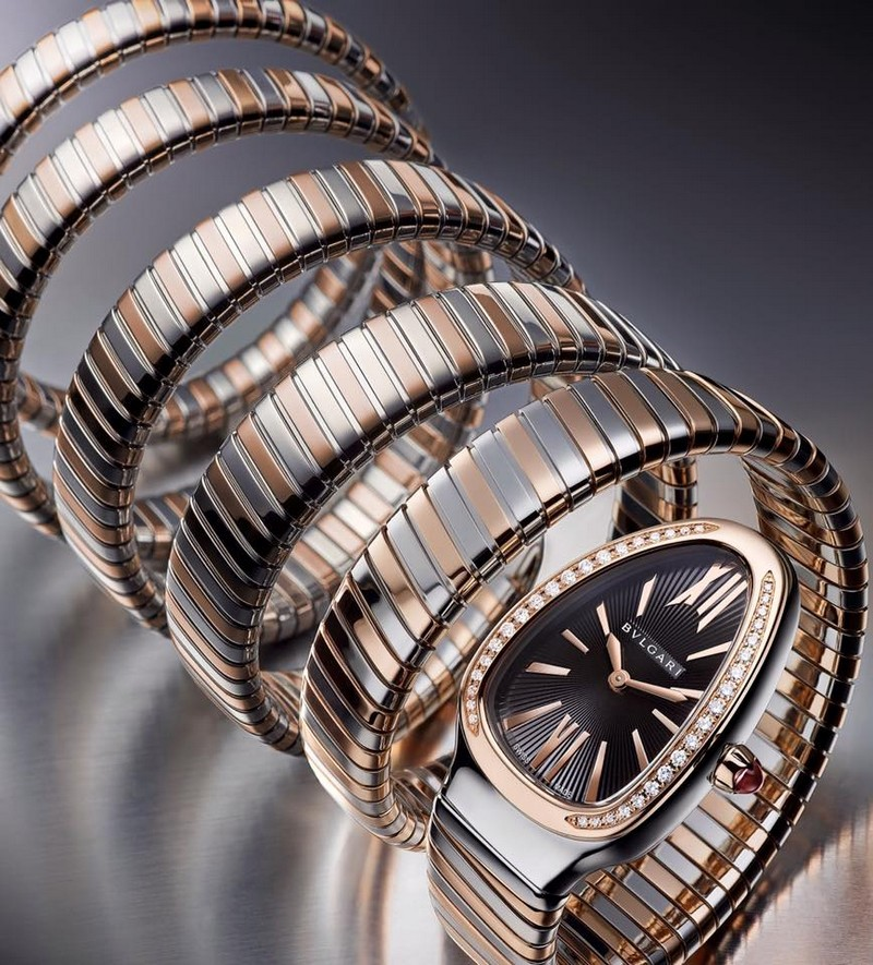 baselworld 2016 - bvlgari Serpenti Tubogas five-coil - a bracelet, an adornment that becomes a second skin