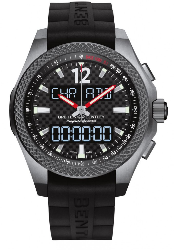 bentley-supersports-b55_For the first time, a Breitling for Bentley chronograph features an electronic movement-