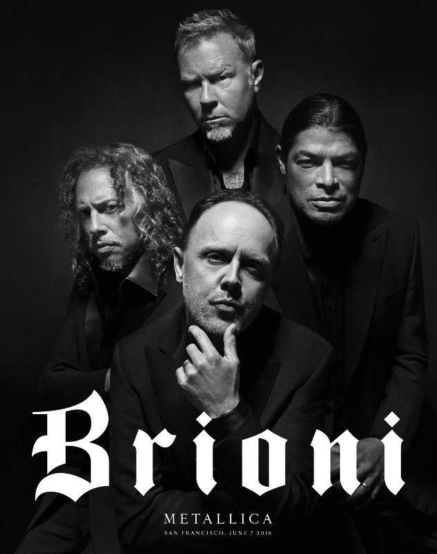 brioni and metallica campaign