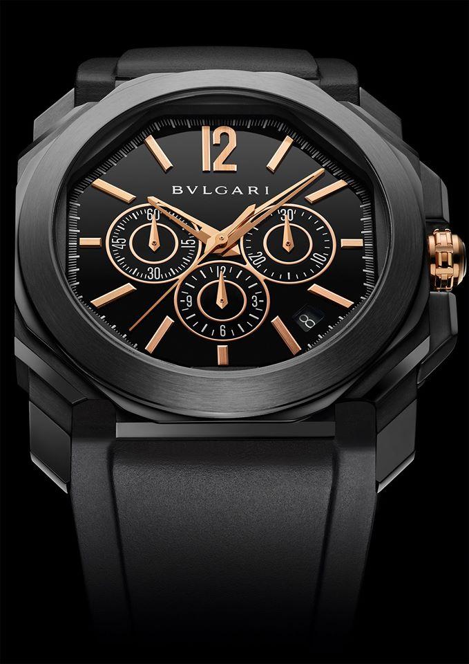 bulgari Octo Ultranero, the iconic Octo watch boldly reinvented into a modern black-clad interpretation