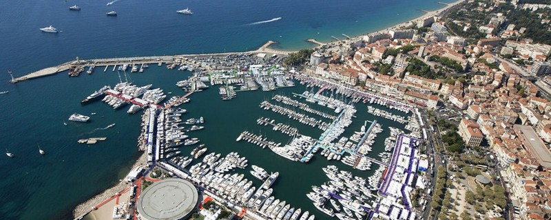cannes yachting festival port view