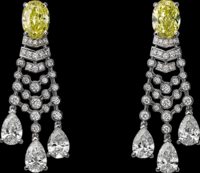 -cartier magicien high jewelry collection 2016-Platinum, diamonds earrings