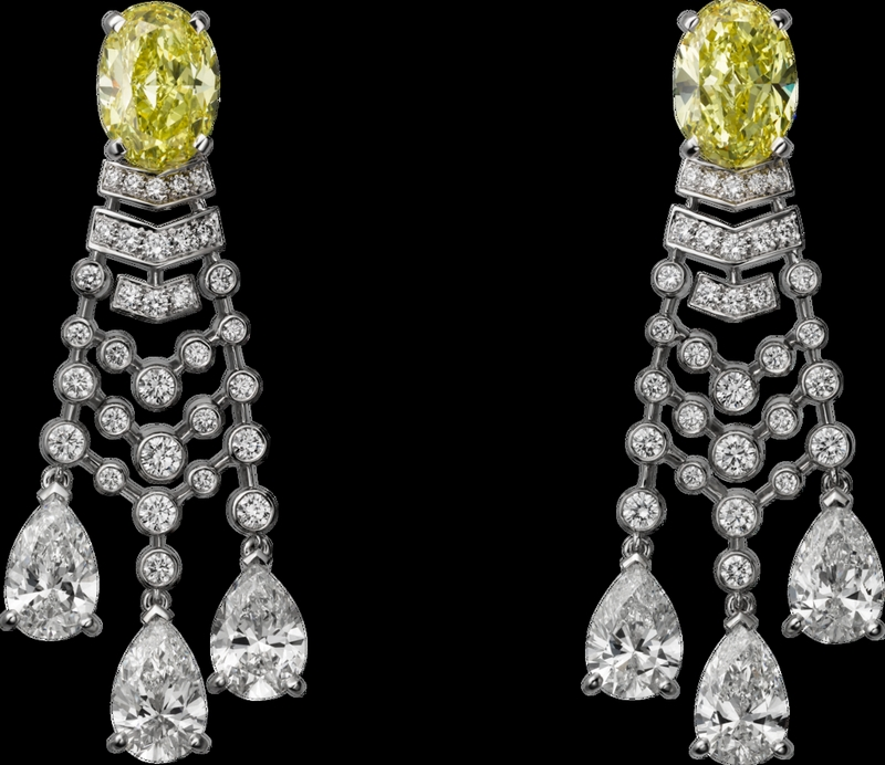 -cartier magicien high jewelry collection 2016-Platinum, diamonds earrings