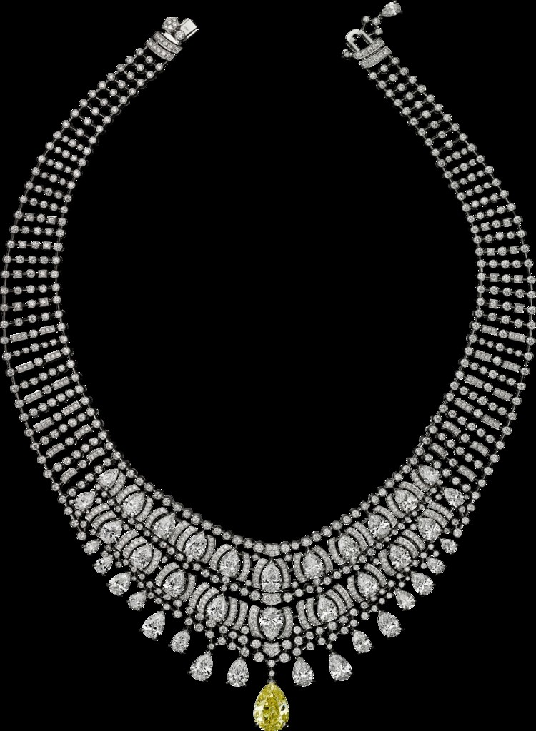 -cartier magicien high jewelry collection 2016 - Platinum, yellow diamond, diamonds necklace- 2luxury2