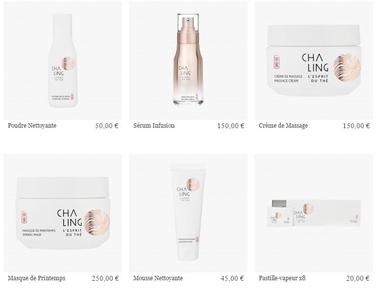 cha ling cosmetics range
