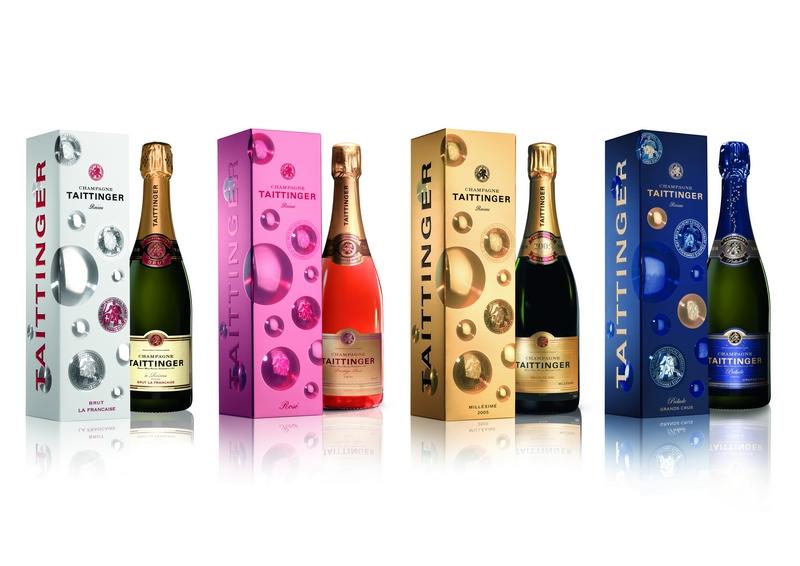 champagne taittinger bottles