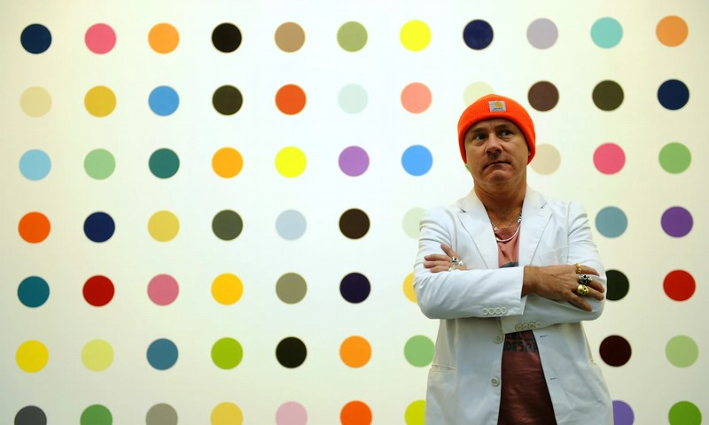 damien hirst painting