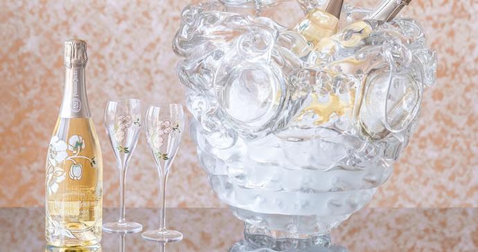 design miami 2015 - perriet jouet x Ritsue Mishima-murano glass champagne vase