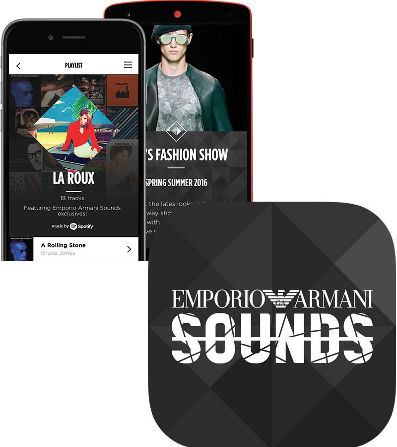 emporio armani app 2015
