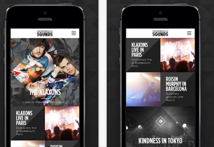 emporio armani sounds app 2015-